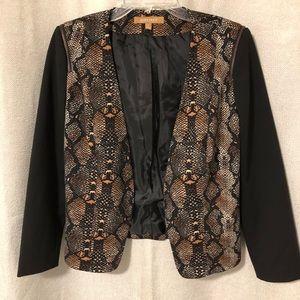 Ellen Tracy snakeskin print jacket